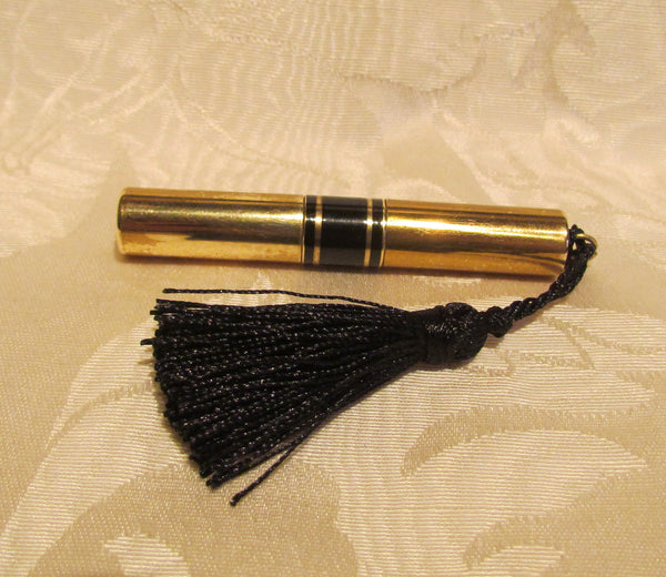 Gold Lipstick Lighter Ladies Tube Lighter And Lipstick Case Black Tassel