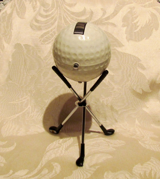 Golf Ball Lighter 1960s SWANK Working Table Lighter