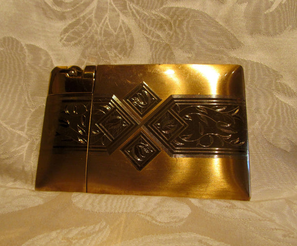 1940's Elgin American Lite-O-Matic Cigarette Case Lighter Working Condition