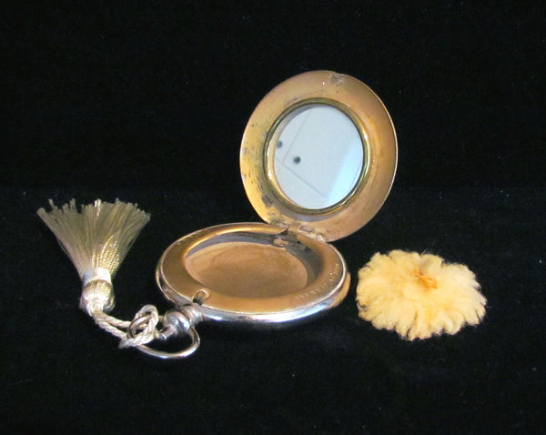 D.R.G.M.a. German Silver Pocket Watch Compact Vintage