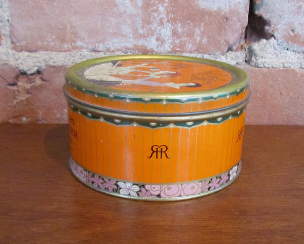 Vintage Richard Hudnut Three Flowers Dusting Powder Tin