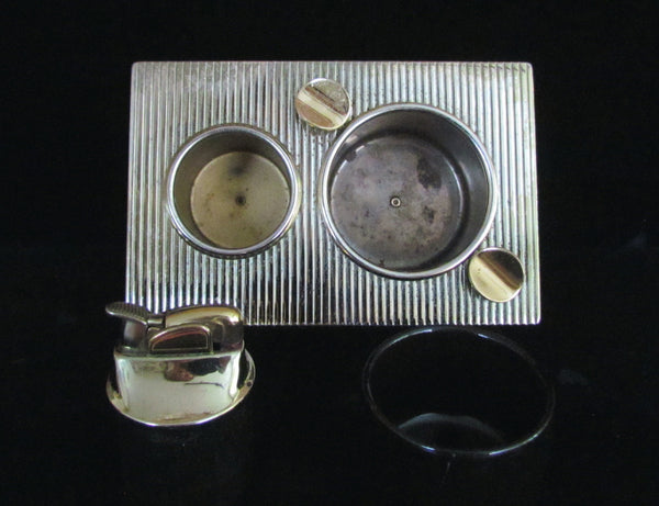 Evans Lighter Ashtray Holder 1950's Cocktail Table Set