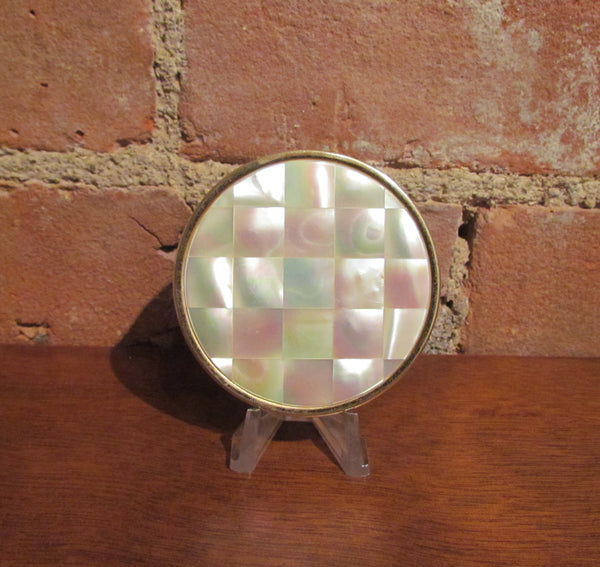 Max Factor Mother Of Pearl Compact Creme Puff Mop Powder Compact Power Of One Designs