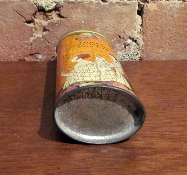 Richard Hudnut Three Flowers Powder Tin 1920's Talcum Can
