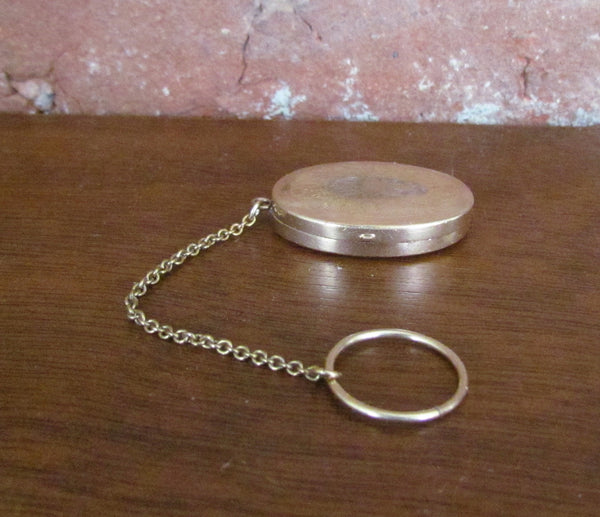 Victorian Gold Filled Compact Chatelaine Smelling Salts Snuff Box Finger Ring