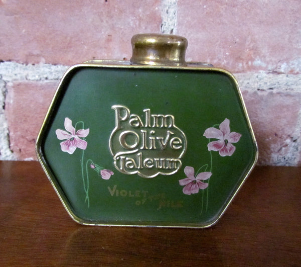 Violet Of The Nile Talcum Powder Tin Palm Olive 1919 Palmolive Tin Rare