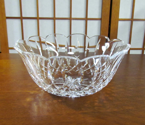 Waterford Crystal Bowl Lismore Vintage Scalloped Edge 9 x 4