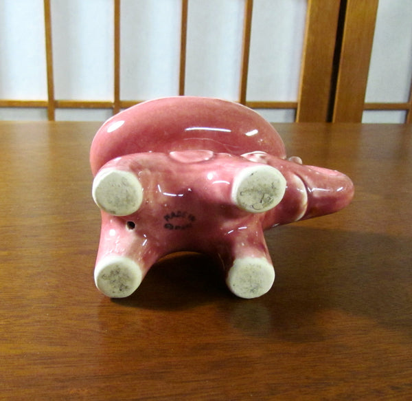 1940s Pink Elephant Soap Dish Made In Japan
