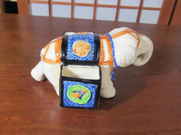 1940s Elephant Planter Desk Accessory Holder Made In Japan