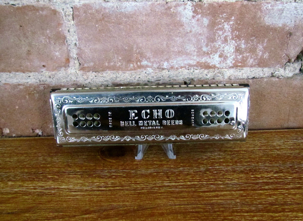 1930's Hohner Echo Harp Tremolo Harmonica Keys of C & G Major 56/96 In Original Box