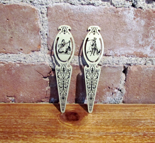 Antique Victorian Bookmarks Rare Collectible Pair