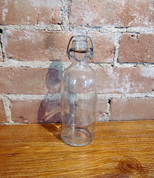 Antique Citrate Of Magnesia Glass Bottle Storage Container