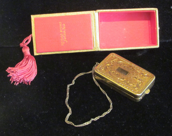 1900s DuBarry Hudnut Compact Purse Victorian Wristlet Purse In Original Box