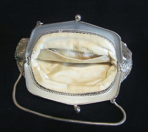1930s Silver Mesh Purse Wedding Bridal Or Formal Bag Made In Germany