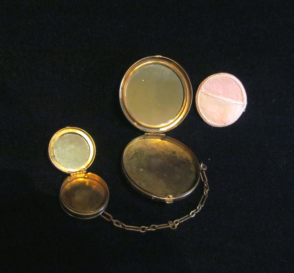1800's Gold Ormolu Filigree And Mosaic Tango Compacts In Excellent Condition