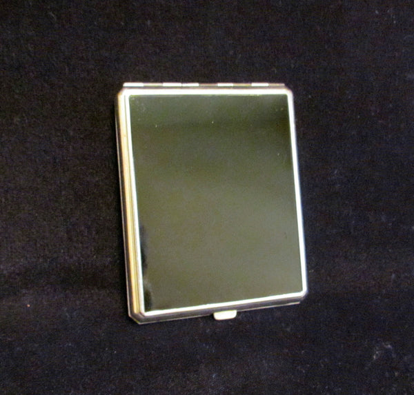 Art Deco Cigarette Case Compact Set 1930s Black & White Enamel Excellent Condition