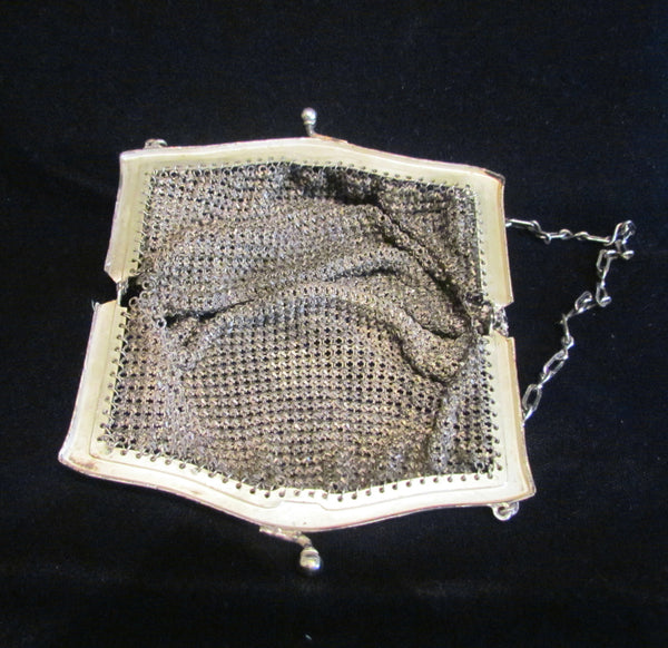 1920s Enamel Mesh Purse Whiting And Davis Art Deco Purse
