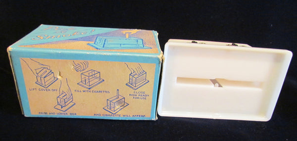 1950s Cigarette Dispenser Pick A Smoke Cigarette Box Fleur De Lis Unused In Original Box