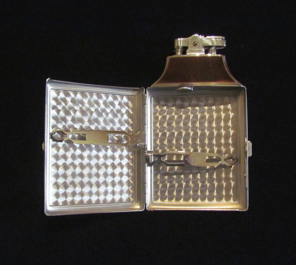 Ronson Case Lighter Master Case Cigarette Case 1930s Tortoise Shell Enamel Unused Mint Condition In Original Box