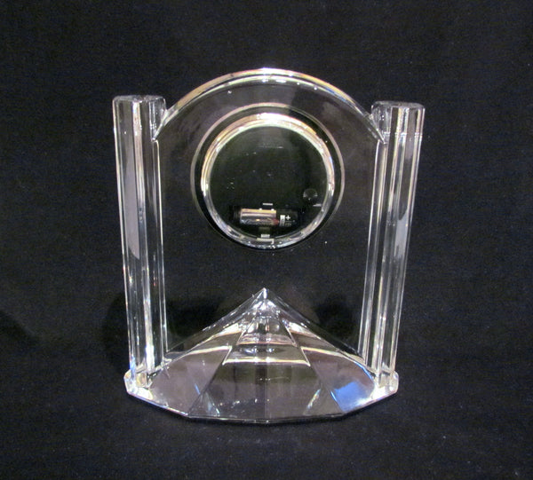 Lenox Quartz Clock Czech Crystal Mantle Clock Excellent Working Condition