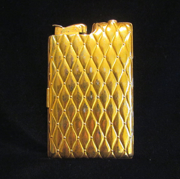 Vintage Gold Case Lighter Evans Cigarette Case Lighter Art Deco Case 1940's Working