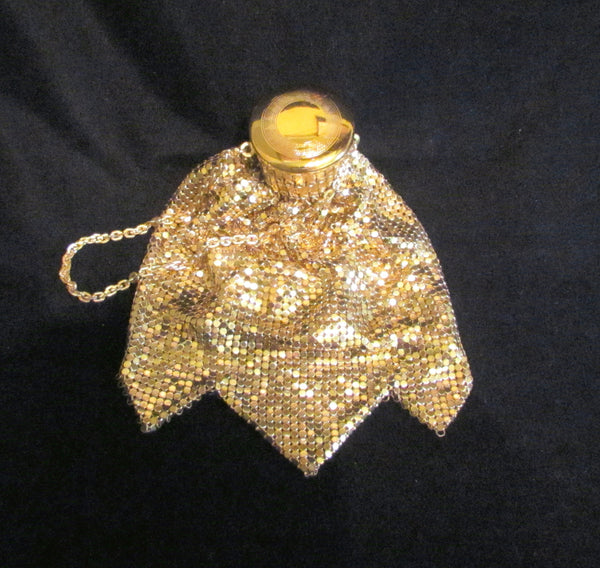 Whiting And Davis Gate Top Purse Vintage Beggars Bag 1920s Accordion Purse Antique Purse Gold Mesh Gatetop EXCELLENT CONDITION