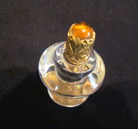 Vintage Table Lighter 1940s STRIKALITE Depression Glass Amber Jewel Cigarette Lighter EXCELLENT WORKING