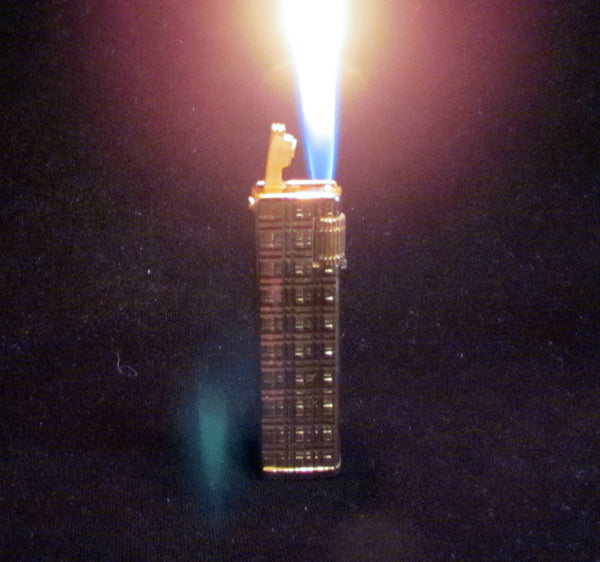 Vintage Gold Plated Butane Lighter Working Condition
