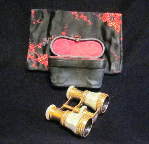 LeMaire Fi Opera Glasses Antique Paris Mother Of Pearl Theater Glasses Binoculars MOP Opera Glasses In Original Case