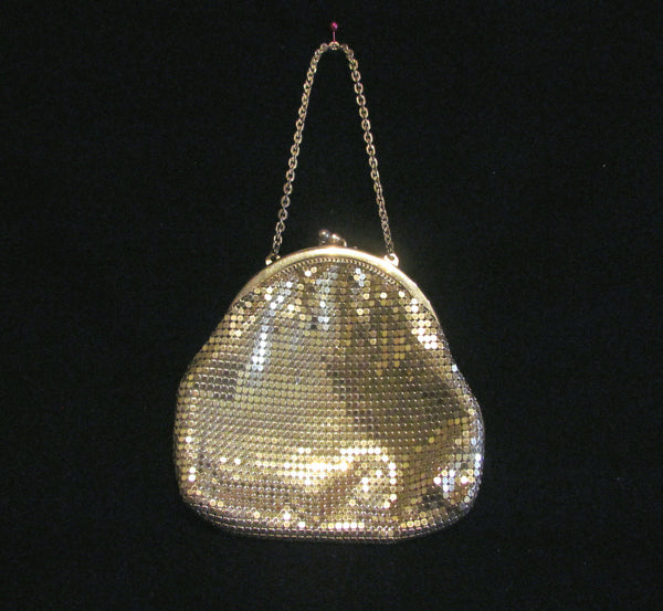 Silver Mesh Whiting & Davis Purse Formal Wedding Bridal Handbag Excellent Condition