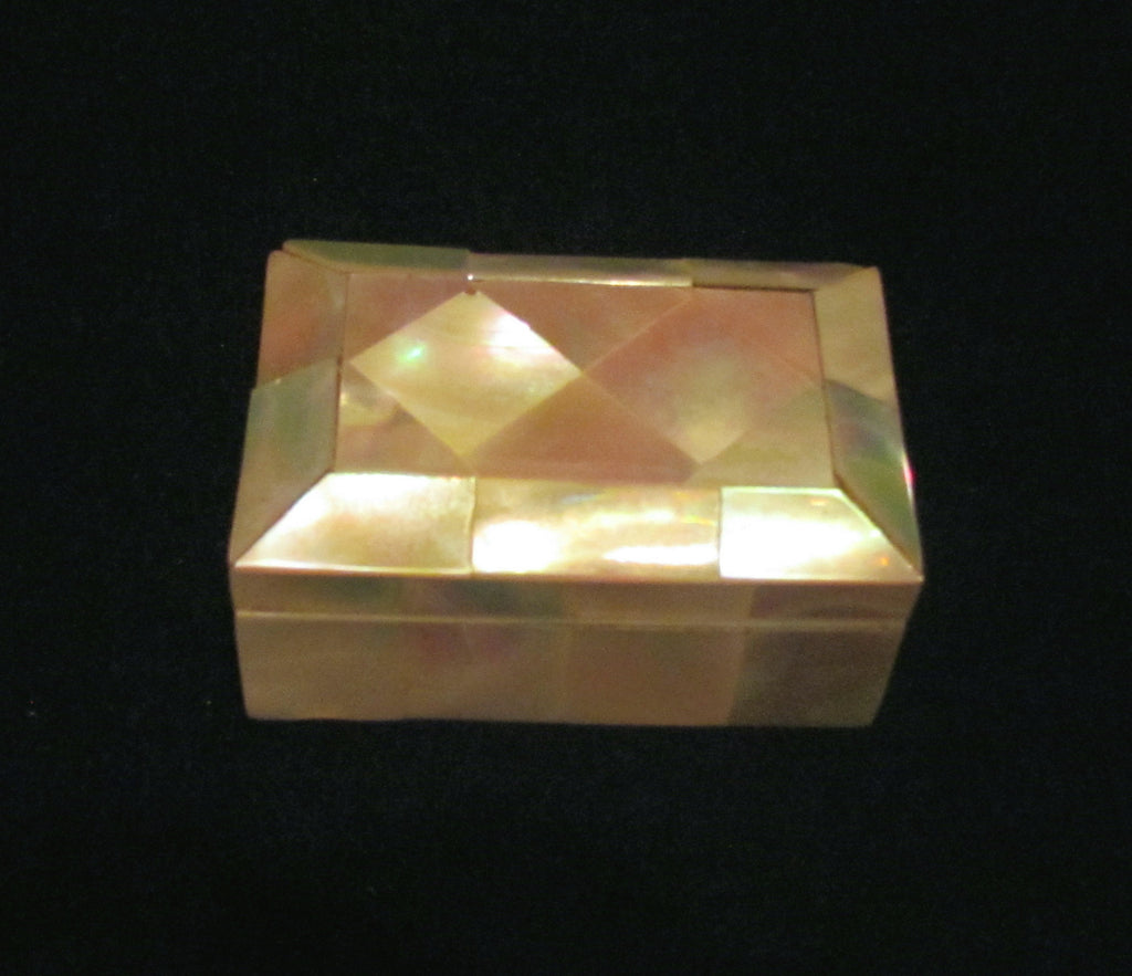 Vintage Mother Of Pearl Box Small Trinket Box 1930s Tiny Jewelry Box