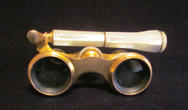 Antique Paris Opera Glasses 1800's Mother Of Pearl Binoculars Theater Glasses Badere