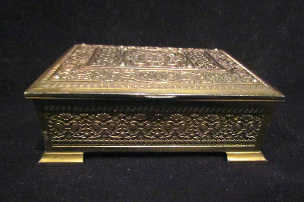 Vintage Cigarette Box Dispenser 1940's Japan Brass Tabletop Cigarette Case