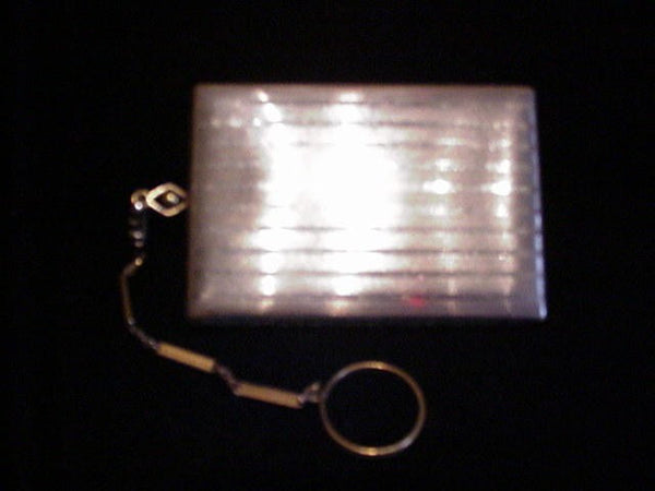 1910 Silver Compact Purse Powder Rouge & Mirror Antique Dance Purse With Finger Ring
