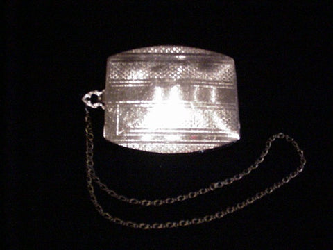 Vintage Silver Compact Dance Purse 1910 Wristlet Powder Compact Purse