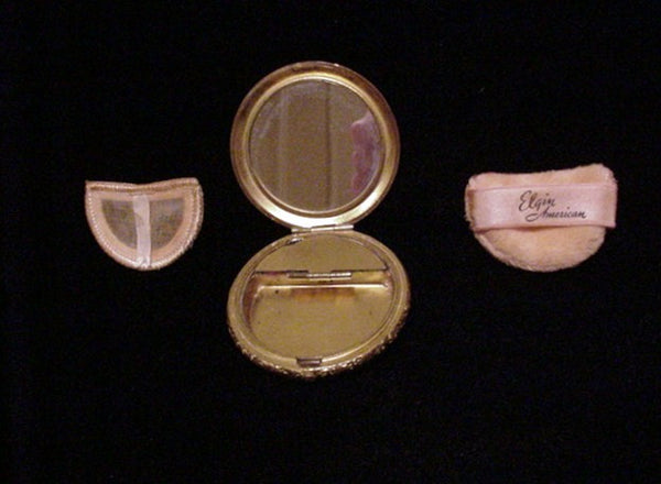 Vintage Elgin American 1930s Compact Powder & Rouge Art Deco Butterfly