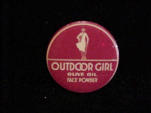 Outdoor Girl Tin Art Deco Powder & Lip Rouge Vintage Advertising Sample Tins Rare Set