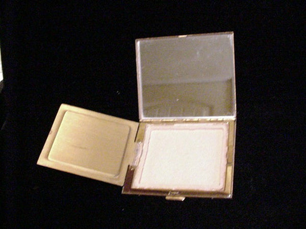 Vintage Mother Of Pearl Compact And Comb Set MOP Purse Accessories Folding Comb & Powder Compact