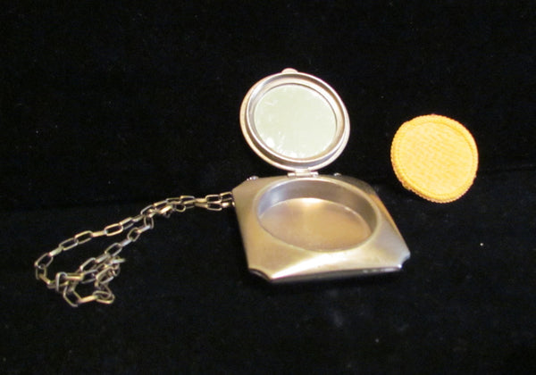 1920's Powder & Mirror Compact Wristlet Purse Art Deco Dance Purse