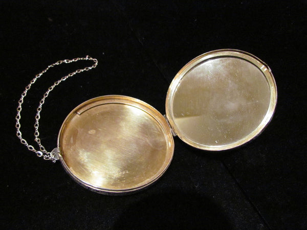 Vintage Sterling Silver Compact Elgin American Dance Purse Edwardian