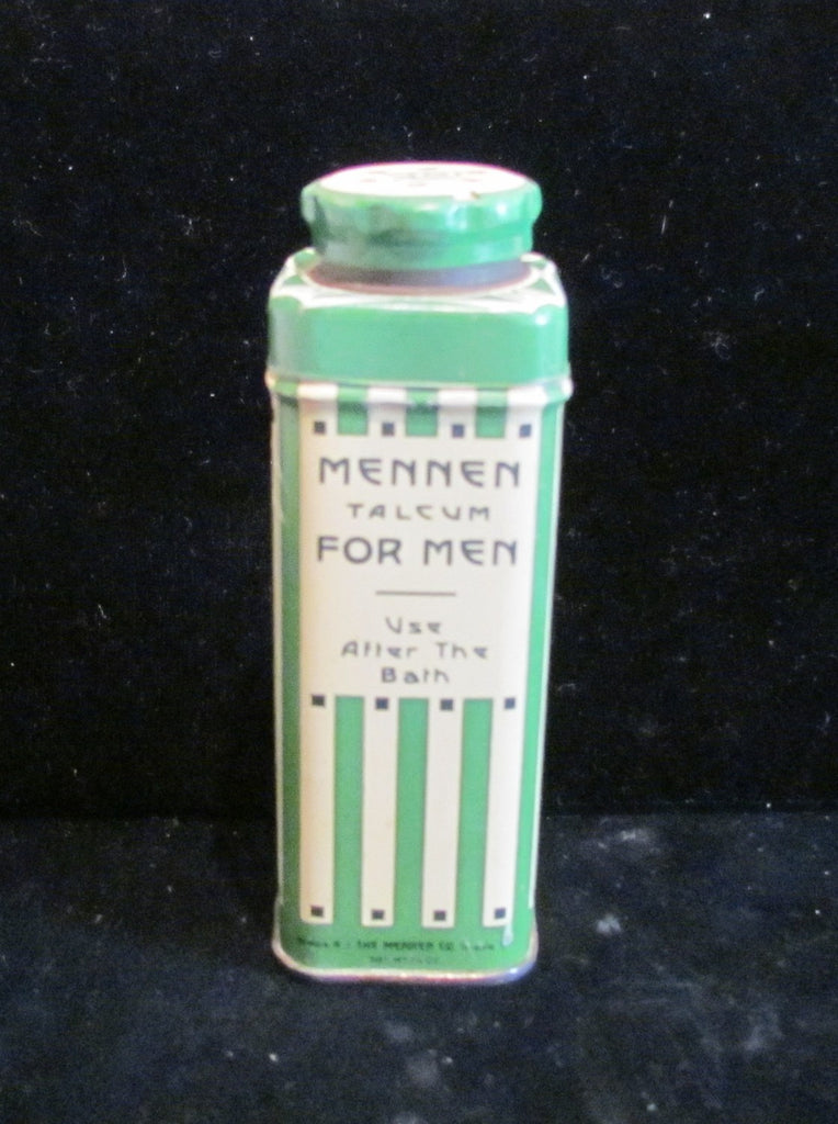 Mennen Talcum Powder Tin Vintage 1930s Lithographic Talcum With Powder Almost Full