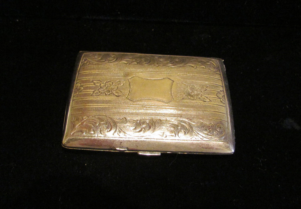 Antique Coin & Powder Compact Purse 1900's Silver Change Purse Victorian