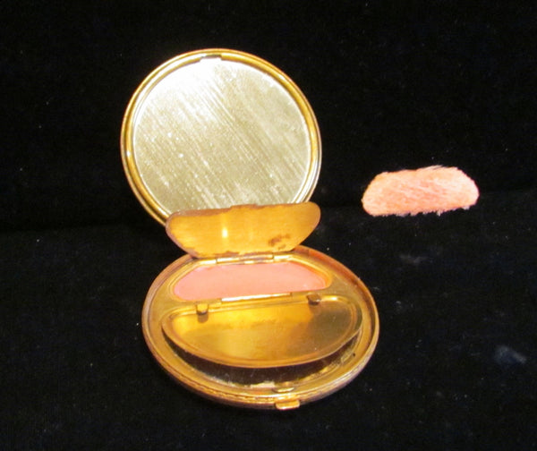 1930s Foster Guilloche Powder Mirror And Rouge Compact