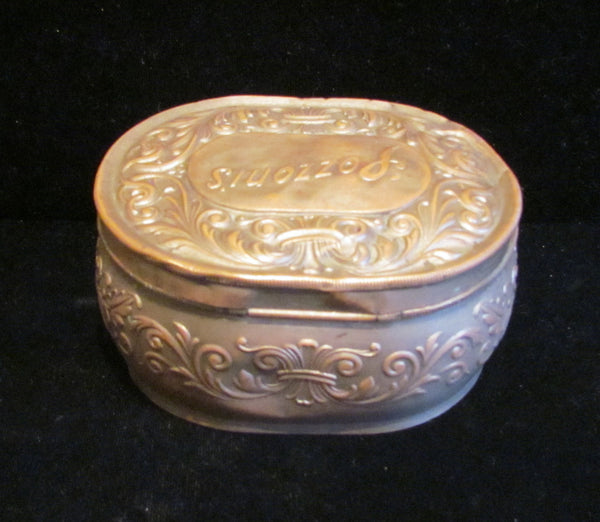 1912 Pozzoni's Powder Tin Antique Powder Box Vanity Accessory Very Rare
