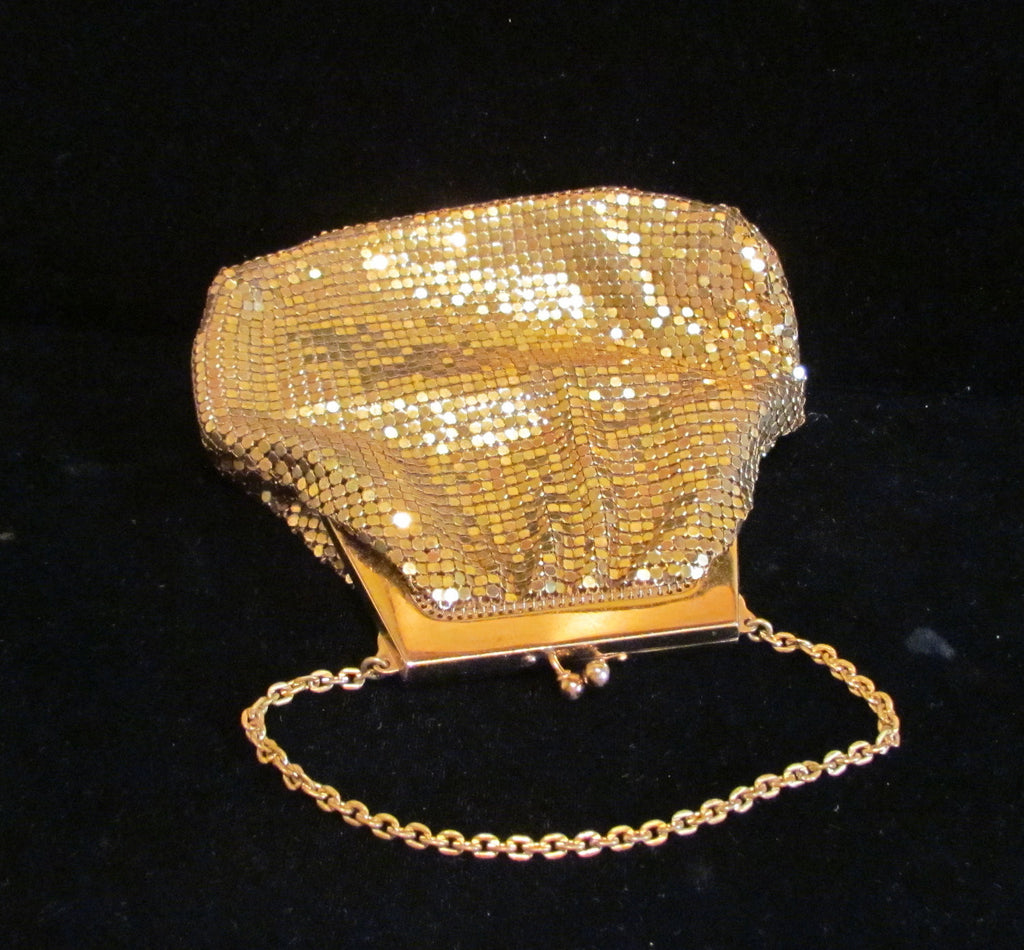 Whiting And Davis Gold Mesh Purse 1930s Handbag Wedding Purse Bridal Bag