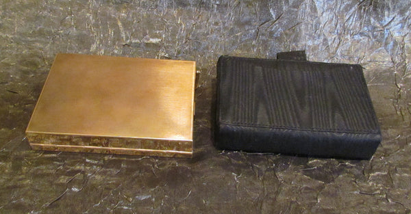 1950's Volupte Sophisticase Compact Purse Gold Compact Mad Men Purse Evening Bag In Original Box