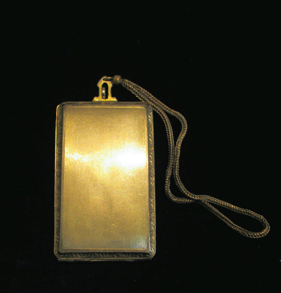 Evans Compact 1910s Dance Purse Powder Mirror And Rouge Wristlet