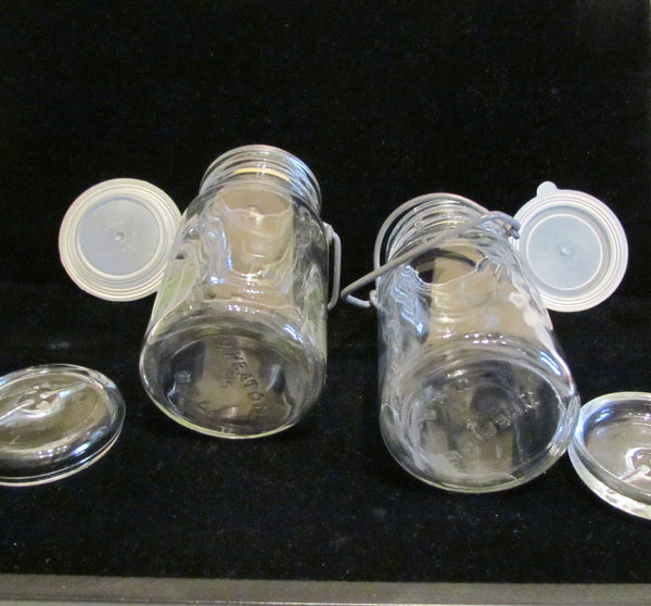 Vintage Mason Jars Wheaton Glass Storage Canning Jars 1970's Mason Food Jars Excellent Condition