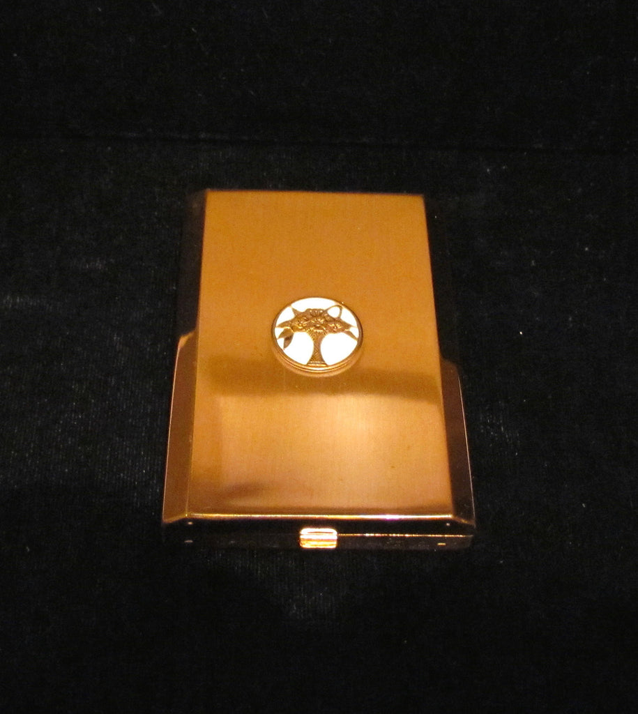 1940s Langolis Cara Nome Compact Art Deco Vintage Powder Mirror Unused Excellent Condition