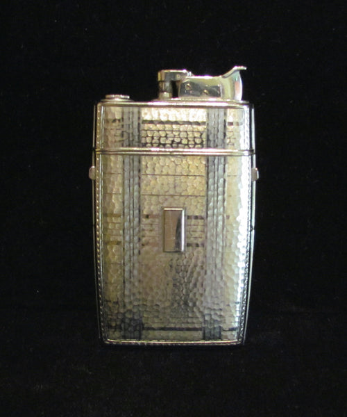 Evans Trig-A-Lite Case Lighter Vintage Cigarette Case 1940's Art Deco Combo Case Lighter Working Condition